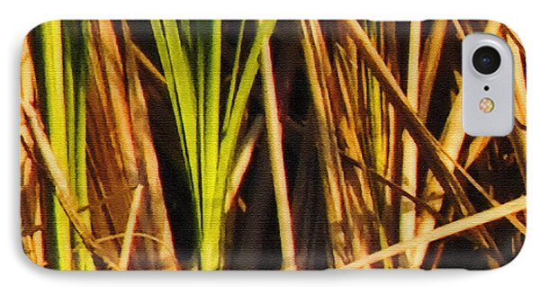 Abstract Reeds Triptych Top Phone Case by Steven Sparks