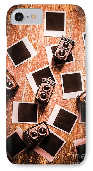 Abstract Retro Camera Background IPhone Case by Jorgo Photography - Wall Art Gallery