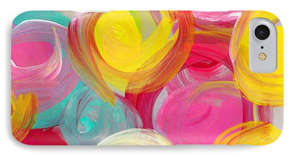 Abstract Rose Garden In The Morning Light Square 1 IPhone Case by Amy Vangsgard