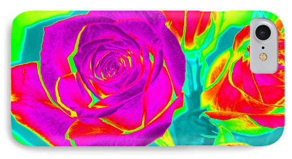 Abstract Roses IPhone Case by Karen J Shine