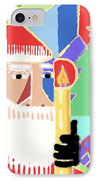 Abstract Santa Phone Case by Arline Wagner