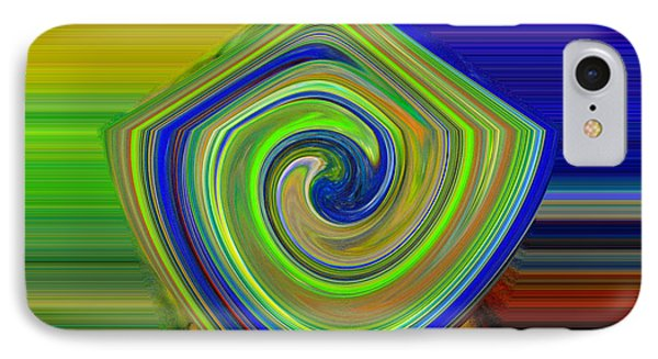 Abstract Shapes And Swirls IPhone Case by Jeff Swan