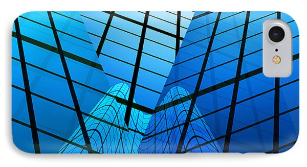 Abstract Skyscrapers IPhone Case by Setsiri Silapasuwanchai