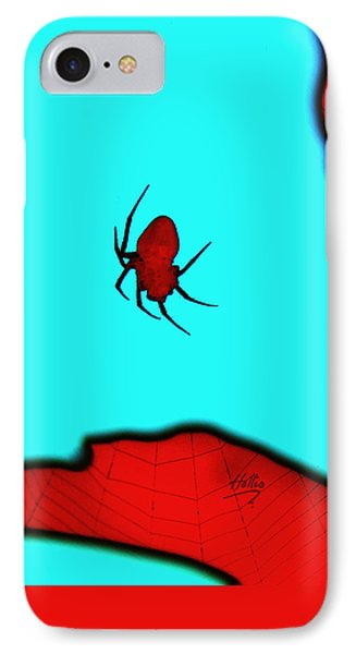 Abstract Spider IPhone Case by Linda Hollis