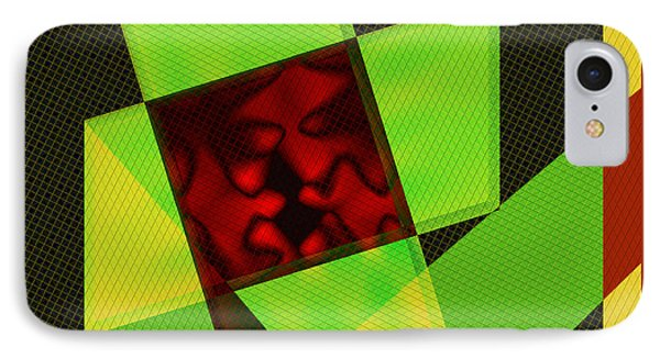 IPhone Case featuring the digital art Abstract Squares And Angles by Kae Cheatham