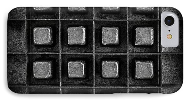 Abstract Squares Black And White IPhone Case by Edward Fielding