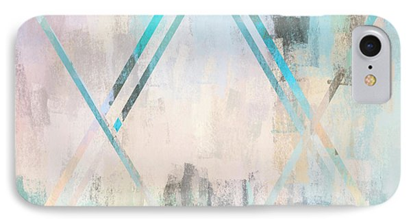 Abstract Star In Light Blue And Pink IPhone Case by Brandi Fitzgerald