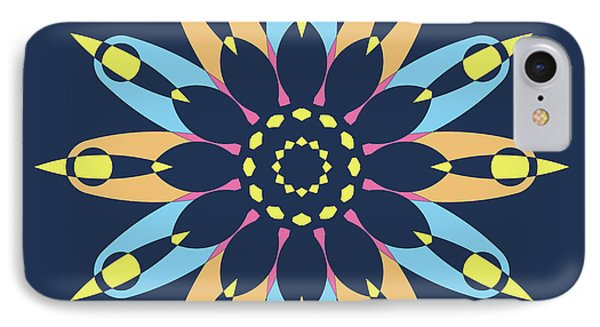 Abstract Star On Blue Square IPhone Case by Pablo Franchi
