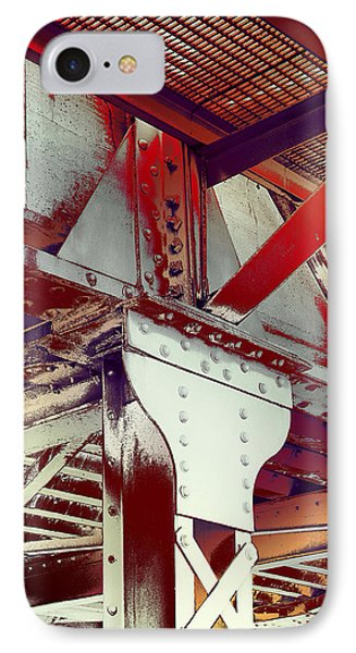 IPhone Case featuring the photograph Grunge Steel Beam by Robert G Kernodle