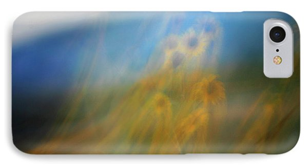 IPhone Case featuring the photograph Abstract Sunflowers by Marilyn Hunt