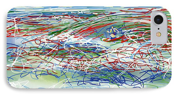 Abstract Surfer 42 IPhone Case by Robert Yaeger