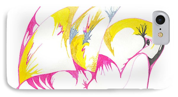 Abstract Swan IPhone Case by Mary Mikawoz