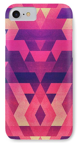 Abstract Symertric Geometric Triangle Texture Pattern Design In Diabolic Magnet Future Red IPhone Case by Philipp Rietz