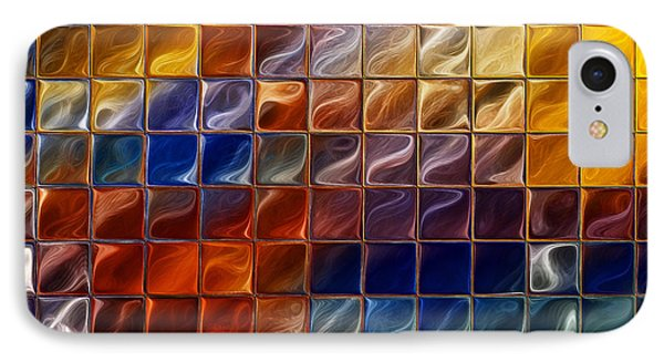 Abstract -tiles Phone Case by Patricia Motley