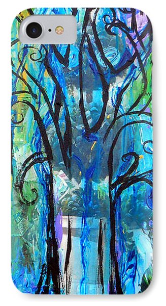 Abstract Tree In Spring IPhone Case by Genevieve Esson
