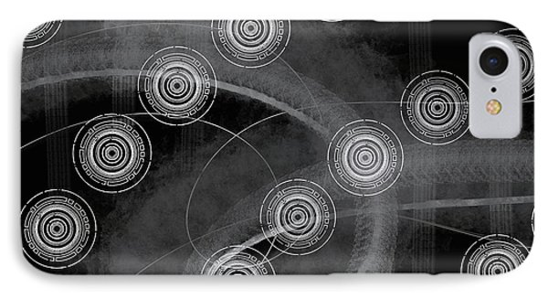 Abstract Universal Black White IPhone Case by Edward Fielding