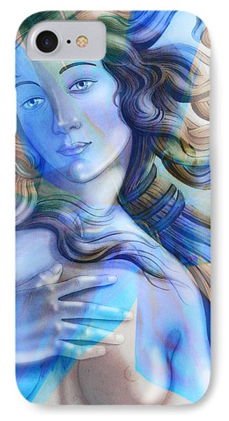IPhone Case featuring the painting Abstract Venus Birth 4 by J- J- Espinoza