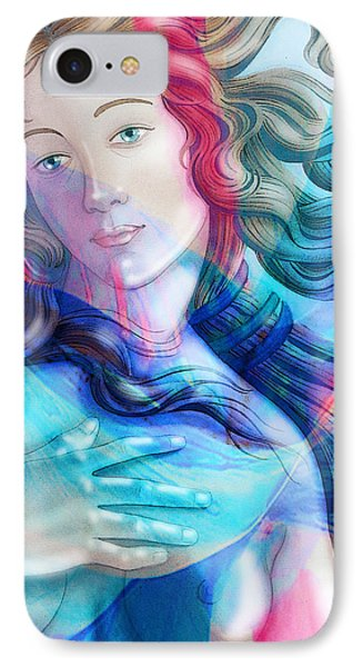 IPhone Case featuring the painting Abstract Venus Birth 6 by J- J- Espinoza