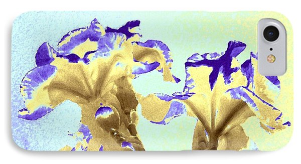 Abstract Watercolor Irises  IPhone Case by Will Borden