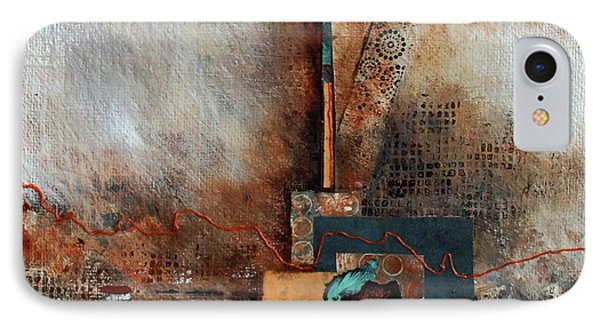 IPhone Case featuring the painting Abstract With Stud Edge by Joanne Smoley