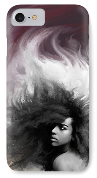 Abstract Woman IPhone Case by Donald Lawrence