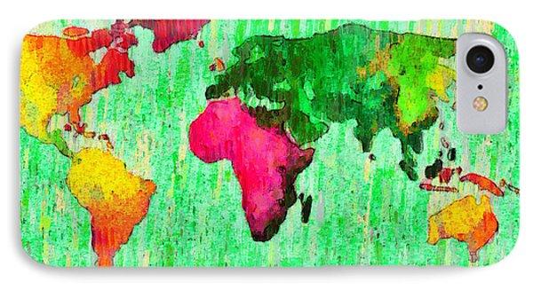 Abstract World Map 16 - Da IPhone Case by Leonardo Digenio