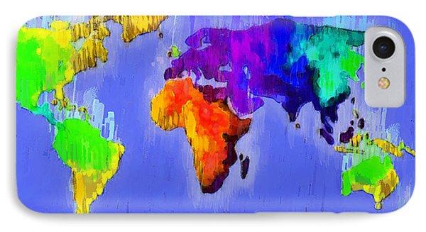 Abstract World Map 3 - Pa IPhone Case by Leonardo Digenio