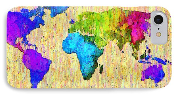 Abstract World Map Colorful 52 - Pa IPhone Case