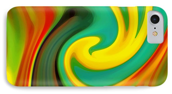 Abstract Yellow Flower Blooming IPhone Case by Amy Vangsgard