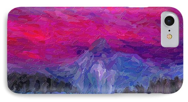 Abstract Yellowstone Gayser In Sunset IPhone Case by Celestial Images