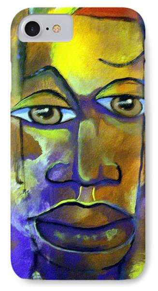 Abstract Young Man IPhone Case by Raymond Doward