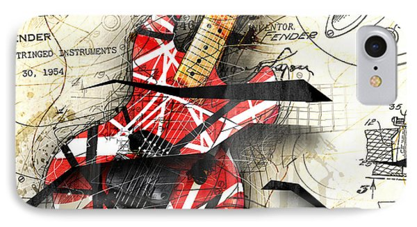 Abstracta 35 Eddie's Guitar IPhone Case by Gary Bodnar