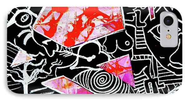 IPhone Case featuring the painting Abstractions by eVol i