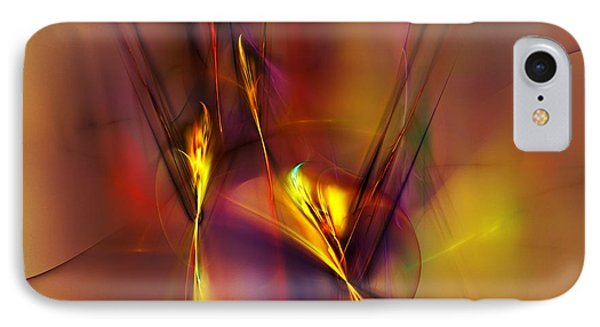 Abstracts Gold And Red 060512 IPhone Case by David Lane