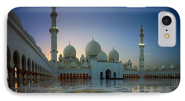 Abu Dhabi Grand Mosque IPhone Case by Ian Good