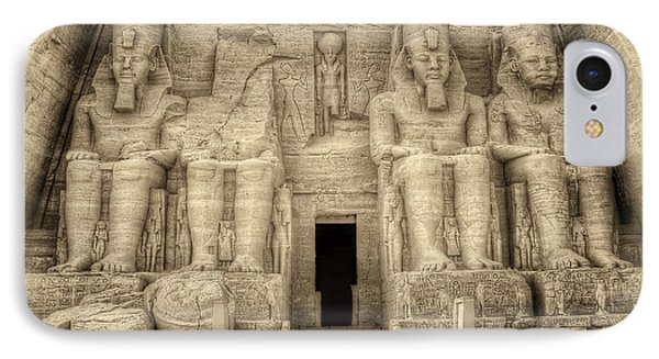 Abu Simbel Antiqued IPhone Case by Nigel Fletcher-Jones