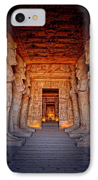 Abu Simbel Great Temple IPhone Case by Nigel Fletcher-Jones