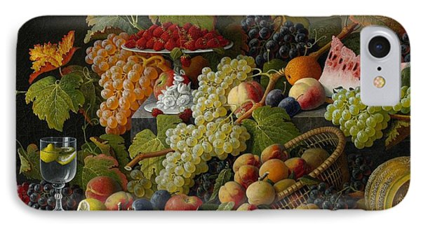 Raspberry iPhone 7 Case - Abundant Fruit by Severin Roesen