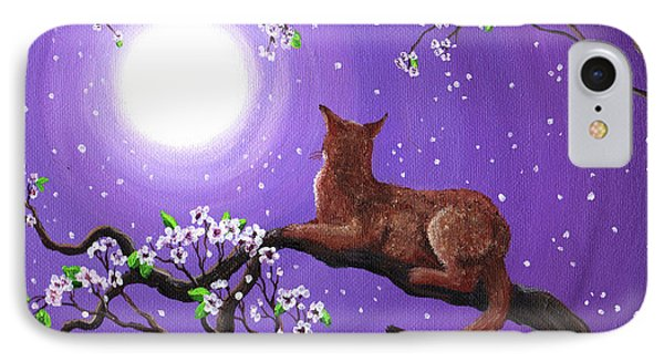 Abyssinian In Amethyst Moonlight IPhone Case