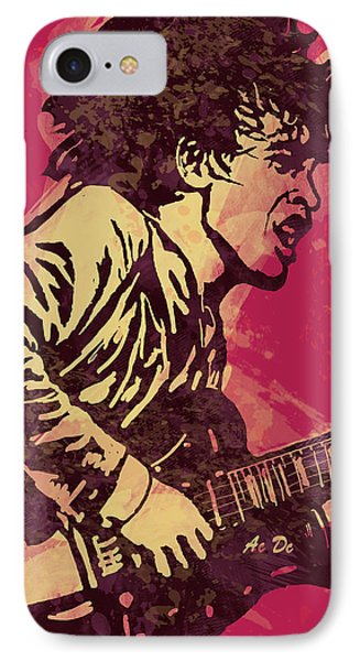 Ac/dc Pop Stylised Art Sketch Poster IPhone Case