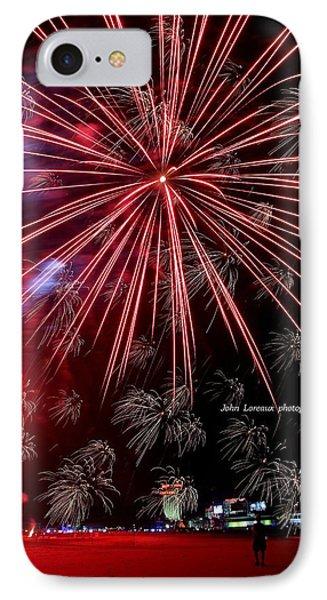 Ac Fireworks IPhone Case by John Loreaux