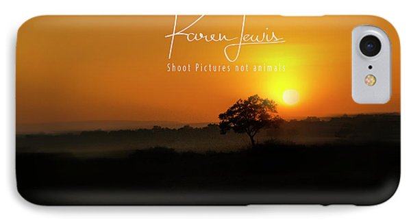 IPhone Case featuring the photograph Acacia Tree Sunrise by Karen Lewis