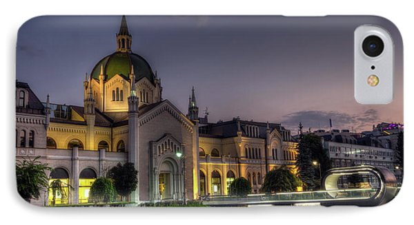Academy Of Fine Arts, Sarajevo, Bosnia And Herzegovina At The Night Time IPhone Case by Elenarts - Elena Duvernay photo