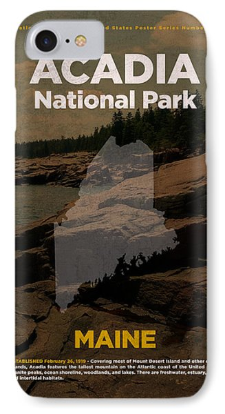 Acadia National Park In Maine Travel Poster Series Of National Parks Number 01 IPhone Case