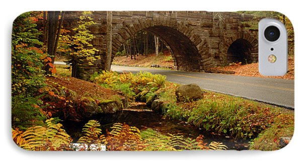 IPhone Case featuring the photograph Acadia Stone Bridge by Alana Ranney