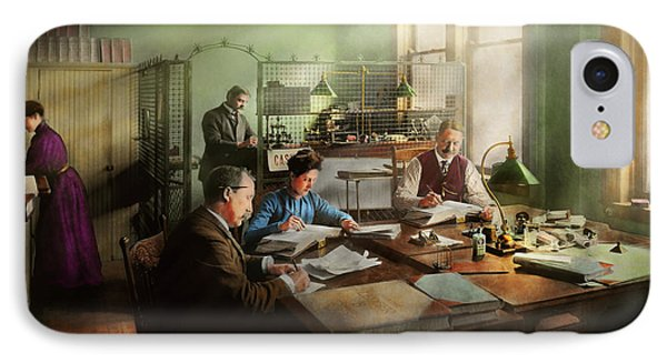 IPhone Case featuring the photograph Accountant - The- Bookkeeping Dept 1902 by Mike Savad