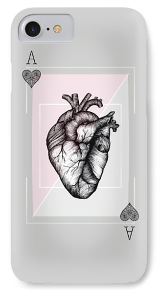 Ace Of Hearts IPhone Case by Barlena