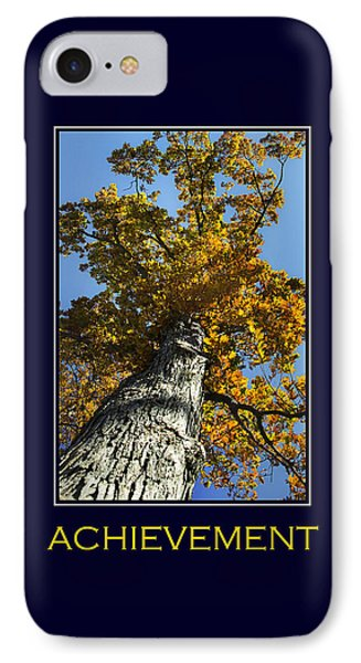 Achievement Inspirational Poster Art Phone Case by Christina Rollo