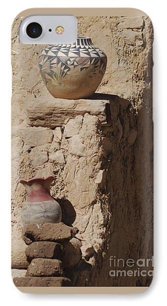 Acoma Pueblo Pottery IPhone Case by Debby Pueschel