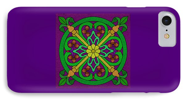 Acorn On Dark Purple IPhone Case